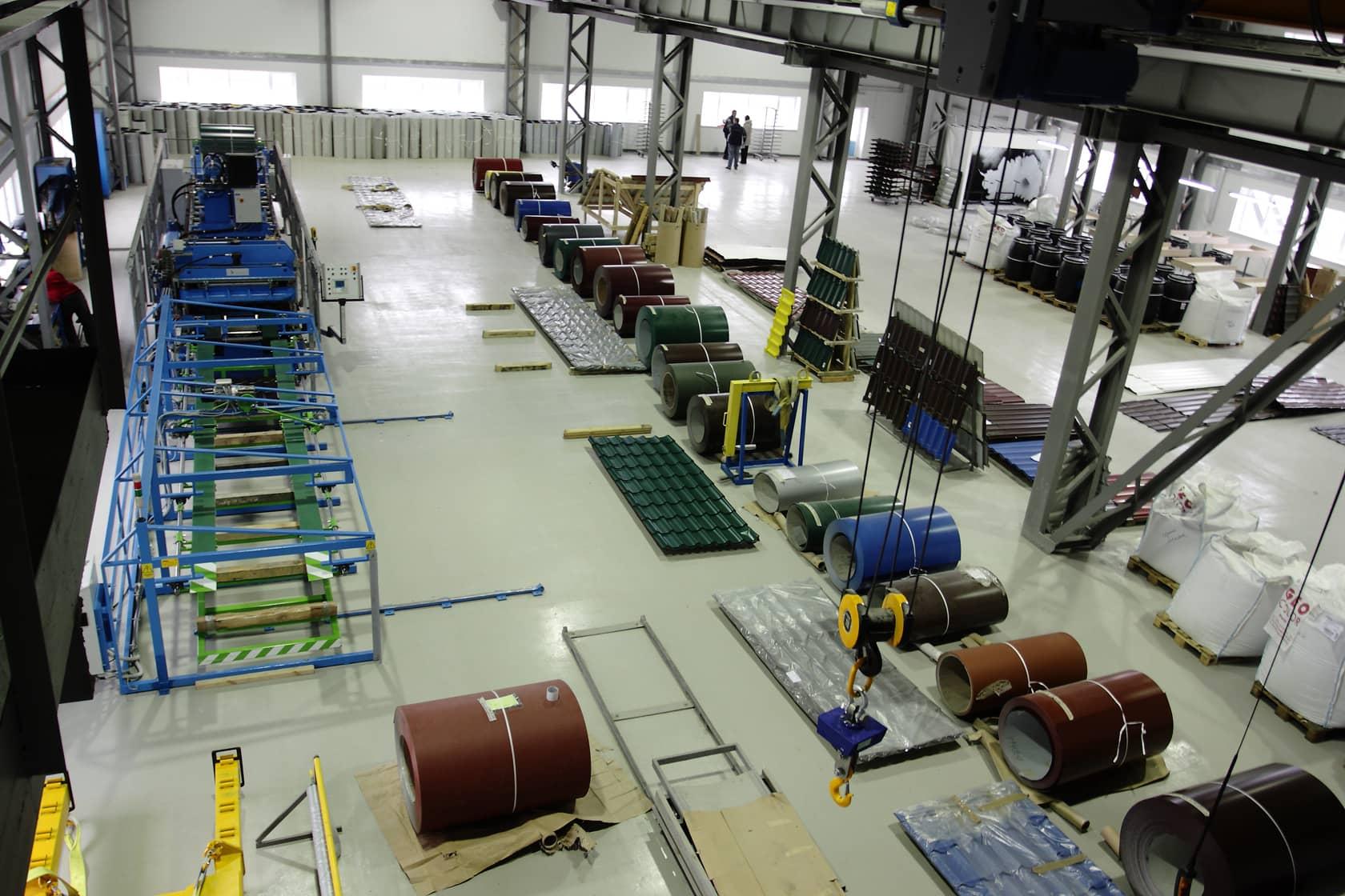 Производство Suntile - производственный цех